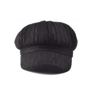 Outdoor Wavy Stripy Crochet Knit Newsboy Hat -