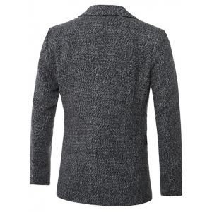 Lapel Single-Breasted Cotton Blends Wool Coat -