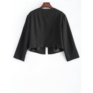 Plus Size 3/4 Sleeves Open Front Short Jacket -