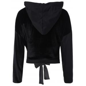 Color Block X-Long Sleeve Thin Wrap Hoodie -