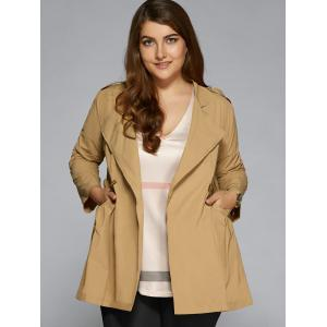 Plus Size String Trench Coat -
