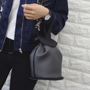 Colour Block Textured Leather Crossbody Bag -
