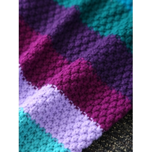 Warmth Knitted Stripe Pattern Mermaid Tail Blanket - COLORMIX