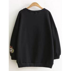 Drop Shoulder Cartoon Plus Size Sweatshirt -