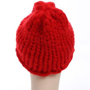 Funny Christmas Coarser Knit Chunky Hat -