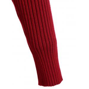 High Neck Sweater Ribbed Dress -
