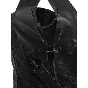 Punk Style Metal Design Faux Leather Corset -