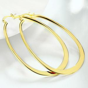 Alloy Water Drop Hoop Earrings - GOLDEN