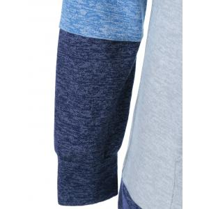 Patchwork manches Drawstring Hoodie -