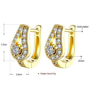 Vintage Rhinestone Water Drop Earrings -