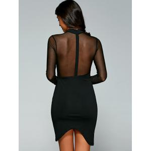See-Through Asymmetric Club Dress -