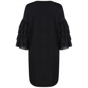 Loose Tiered Bell Sleeve Dress -