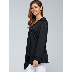 Inclined Button Asymmetrical Blouse -