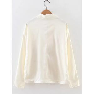 V Neck Bat-Wing Sleeve Loose Wrapped Blouse -