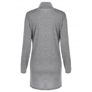 Concise Turtleneck Long Sleeve Casual Dress -
