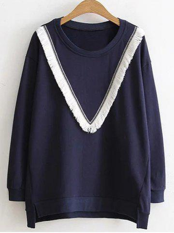 Outfit Fringed Baggy Sweatshirt