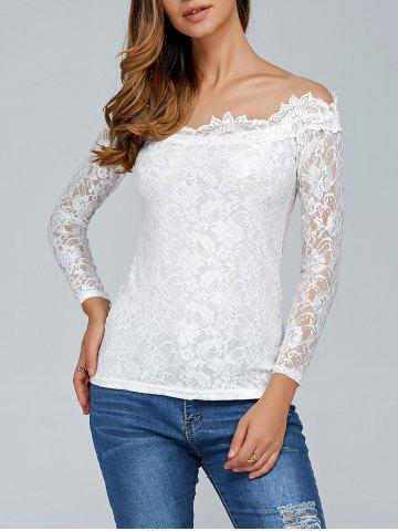 White Laciness See Through T Shirt
