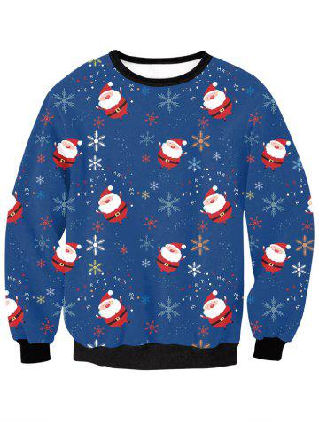 Fancy Christmas Snow Sweatshirt DEEP BLUE XL