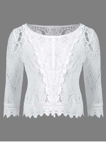 Buy Lace Patchwork Crochet Blouse