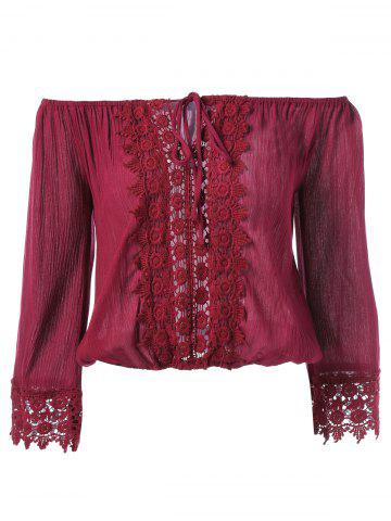 Cheap Lace Embroidery Blouse
