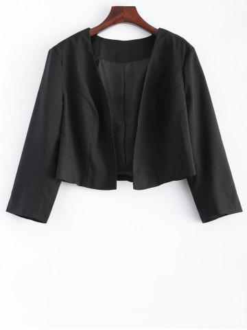 Shop Plus Size 3/4 Sleeves Open Front Short Jacket