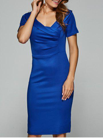 Store V Neck Short Sleeve Knee Length Sheath Dress