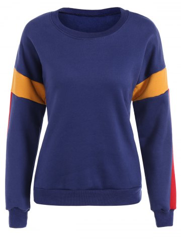 Outfit Color Block Thickening Sweatshirt