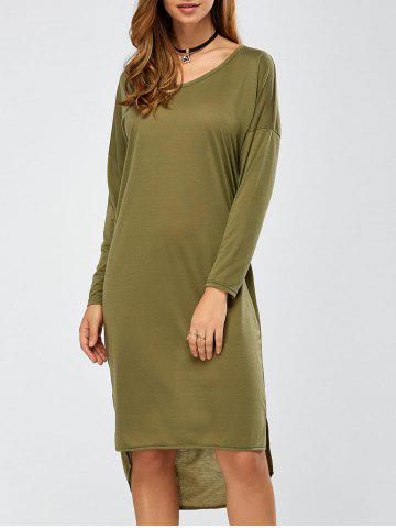 Fashion Long Sleeve Relaxed Midi Dress