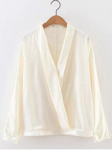 Fashion V Neck Bat-Wing Sleeve Loose Wrapped Blouse