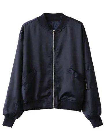 Hot Zip-Up Letter Bomber Jacket