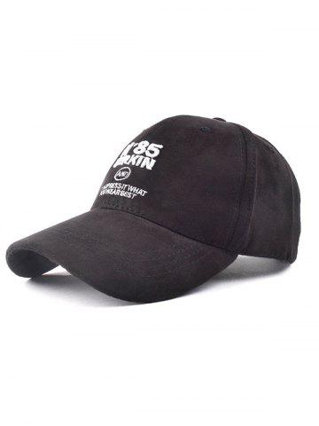 Unique Casual N 85 Embroidery Faux Suede Baseball Hat