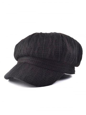 Discount Outdoor Wavy Stripy Crochet Knit Newsboy Hat