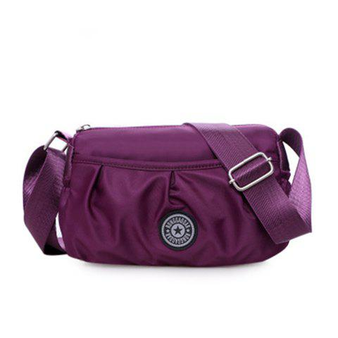 Sale Nylon Wrinkle Zipper Crossbody Bag
