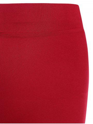 Discount Cropped Sports Top with Shorts - L RED Mobile