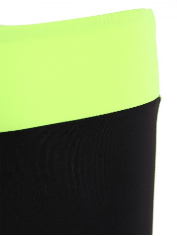 Outfit Racerback Sport Bra + High Waisted Leggings - L NEON GREEN Mobile