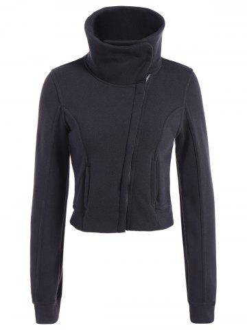 Shops Inclined Zipped Pockets Sweatshirt