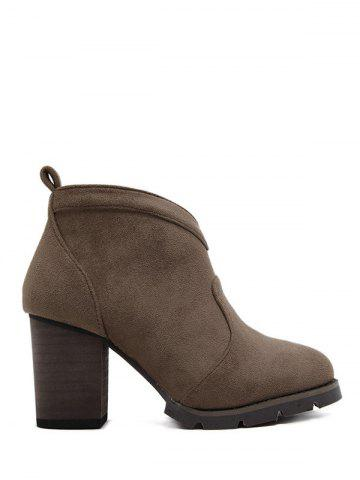 Discount Chunky Heel Suede Dark Colour Ankle Boots