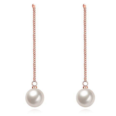Outfits Faux Pearl Chain Earrings