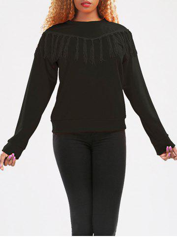 Fashion Loose Long Sleeve Fringe Sweatshirt