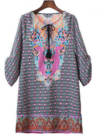 Outfits Tribal Printed Loose Short Dress