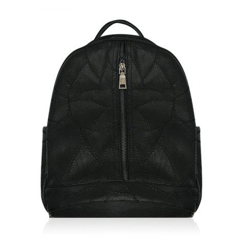 Outfits Zippers Quilted PU Leather Backpack