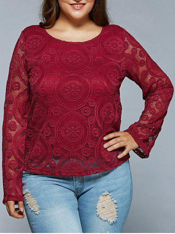 Trendy Round Pattern Lace Blouse