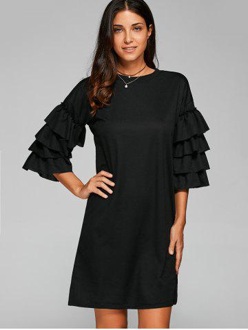Outfit Ruffle 3/4 Sleeve Casual Dress