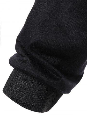 Latest Color Block Long Sleeve Thin Wrap Hoodie - L BLACK Mobile