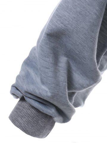 Online Color Block Long Sleeve Thin Wrap Hoodie - S GRAY Mobile