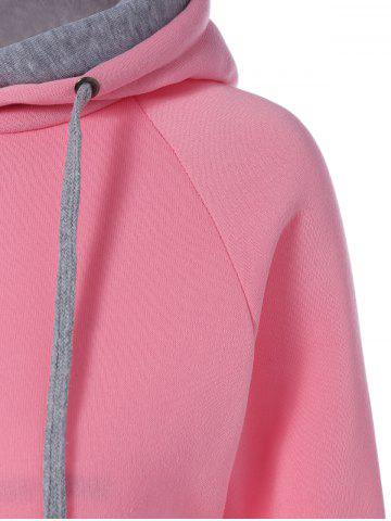 Store Preppy Two-Layer Hat Deign Hoodie - XL PINK Mobile