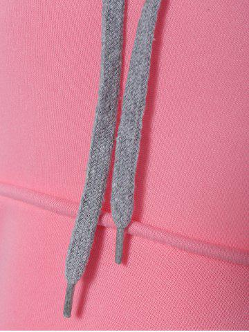 Shop Preppy Two-Layer Hat Deign Hoodie - XL PINK Mobile