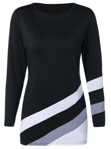 Latest Stripe Color Block Slim Fitted Tee