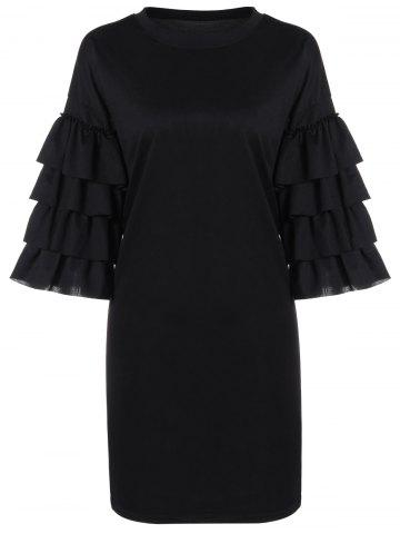 Best Loose Tiered Bell Sleeve Dress
