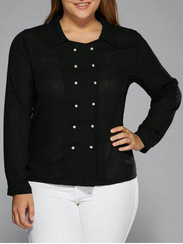Sale Long Sleeves Double-Breasted Shirt